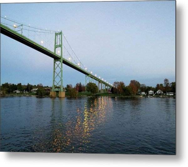 American Span Thousand Islands Bridge Metal Print