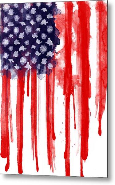 American Spatter Flag Metal Print