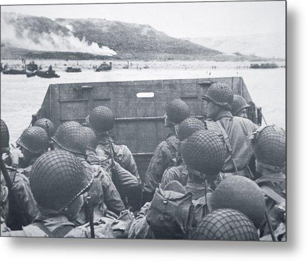 American Troops In Landing Craft Head For Omaha Beach, 6th June 1944 Metal Print
