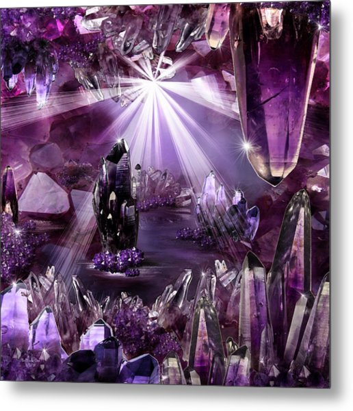 Amethyst Dreams Metal Print