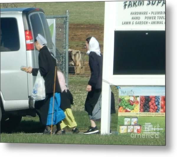 Amish Auction Metal Print