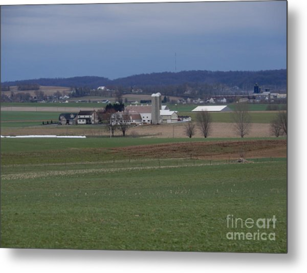 Amish Homestead 125 Metal Print