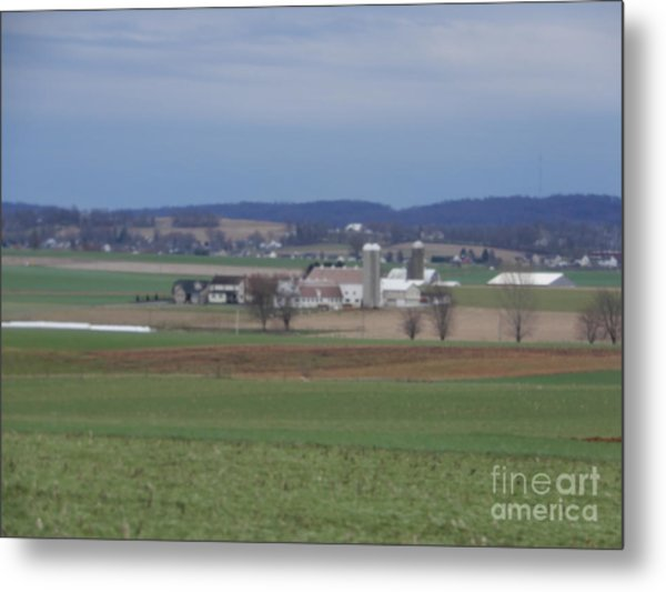 Amish Homestead 3 Metal Print