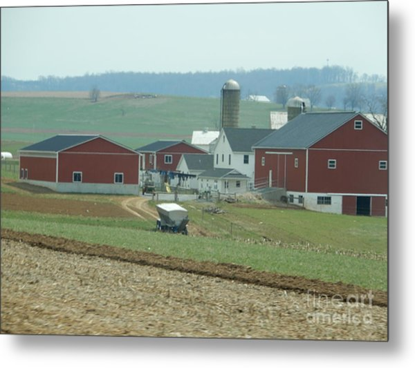 Amish Homestead 6 Metal Print