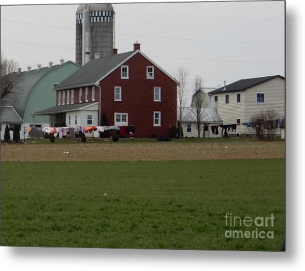 Amish Homestead 7 Metal Print