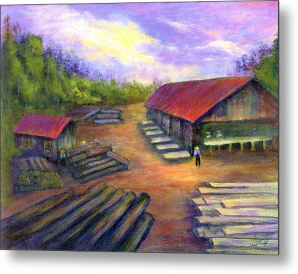 Amish Lumbermill Metal Print