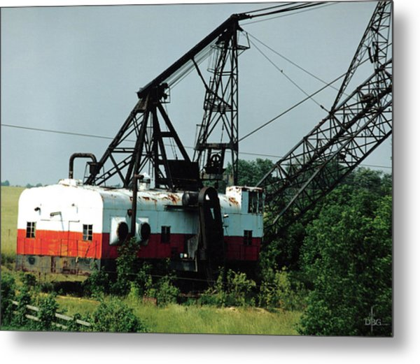 Abandoned Dragline Excavator In Amish Country Metal Print