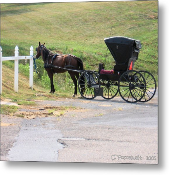 Amish Transportation Metal Print