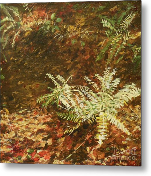 Among The Leaves Metal Print by Carla Dabney