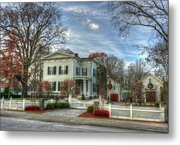 Amos Tuck House In Late Autumn Metal Print