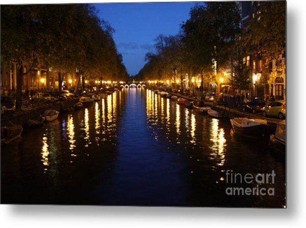 Amsterdam At Night Metal Print