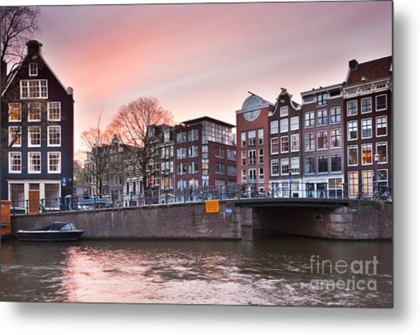 Amsterdam At Sunset Metal Print by Andre Goncalves