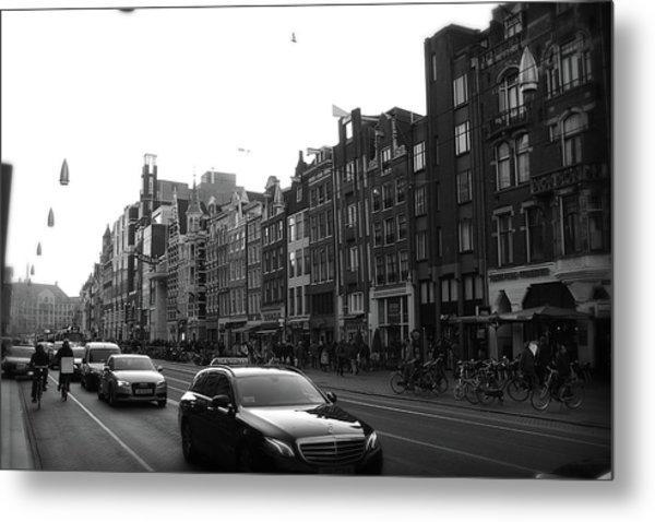 Metal Print featuring the photograph Amsterdam Traffic 2 by Scott Hovind