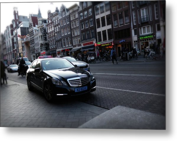 Metal Print featuring the photograph Amsterdam Traffic 3 by Scott Hovind
