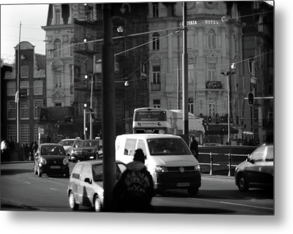 Metal Print featuring the photograph Amsterdam Traffic by Scott Hovind