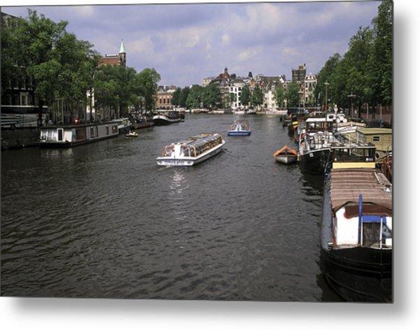 Amsterdam Water Scene Metal Print