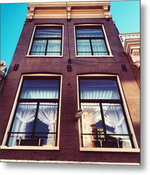 Amsterdammer Windows  #architecture Metal Print