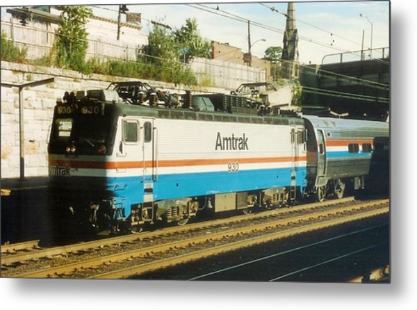 Amtrak Aem-7 Metal Print