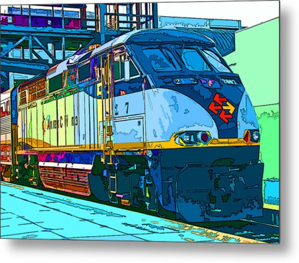 Amtrak Locomotive Study 2 Metal Print