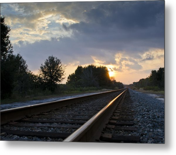 Amtrak Railroad System Metal Print