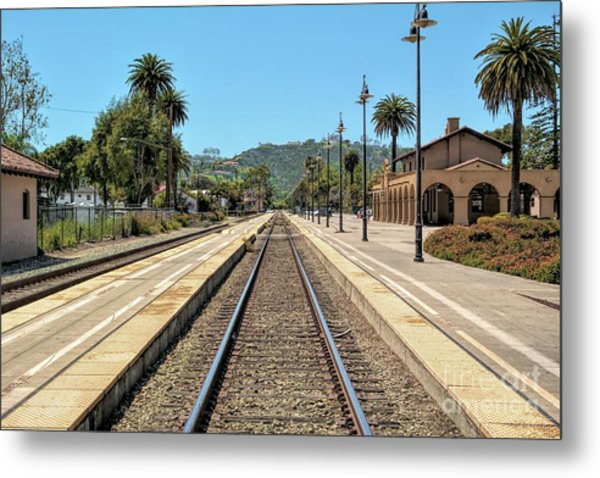 Amtrak Station, Santa Barbara, California Metal Print