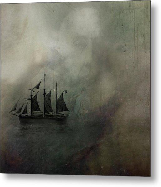 Amundsen And Fram Metal Print