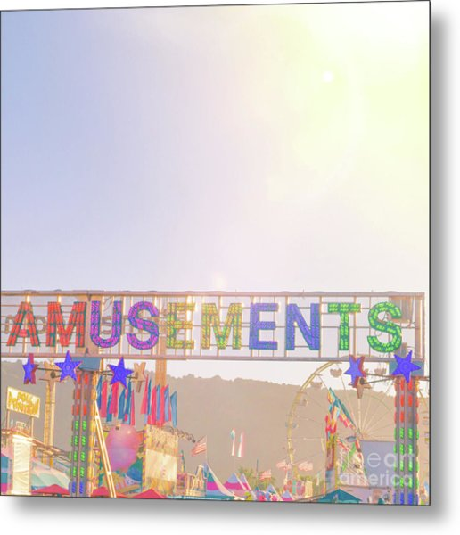 Metal Print featuring the photograph Amusements by Cindy Garber Iverson