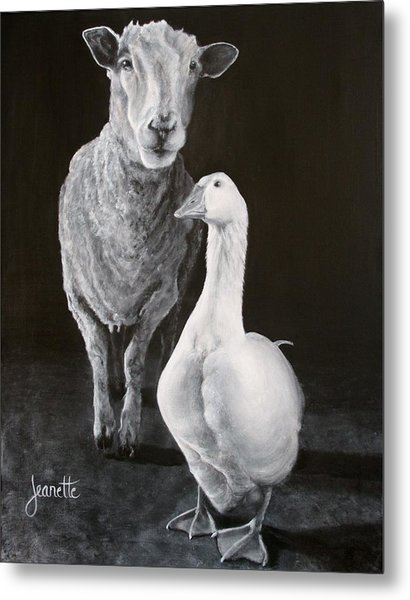 Amy And Gracie Metal Print
