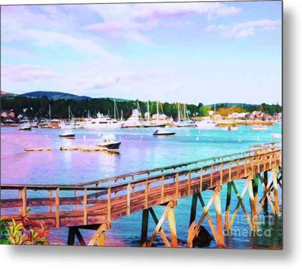 An Abstract View Of Southwest Harbor, Maine  Metal Print