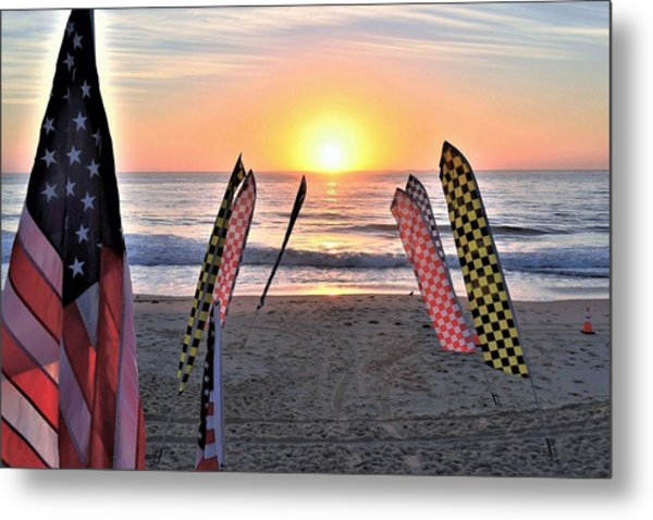 An All-american Sunrise Metal Print