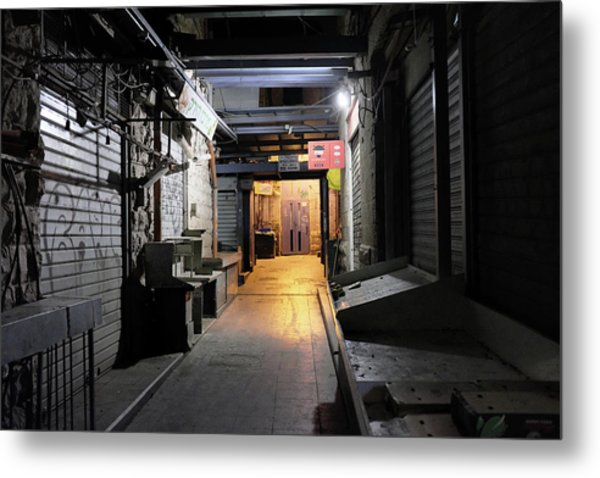 Metal Print featuring the photograph An Alley In Mahane Yehuda Market by Dubi Roman