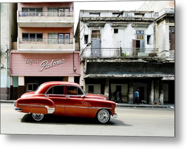 Metal Print featuring the photograph An American In Havana by Denis Rouleau