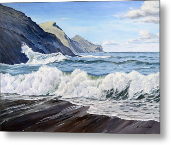 An April Morning At Crackington Haven Metal Print