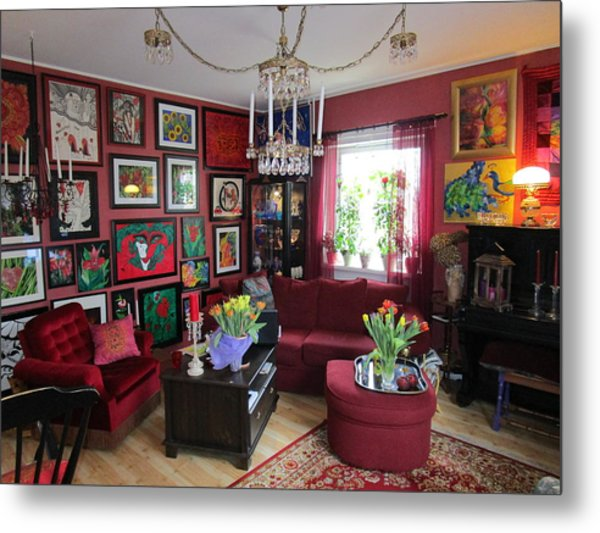 An Artists Livingroom Metal Print