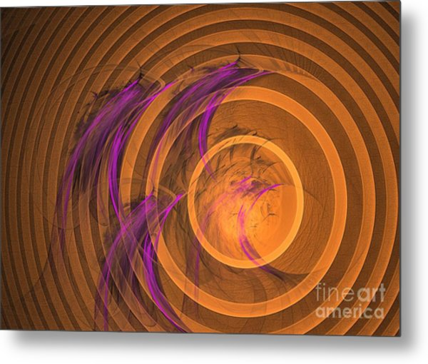 Metal Print featuring the digital art An Echo From The Past - Abstract Art by Sipo Liimatainen