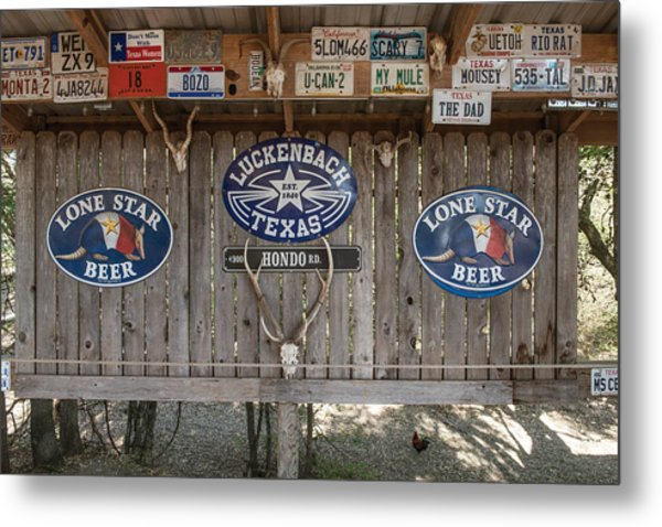 An Eclectic Display In Luckenbach Metal Print