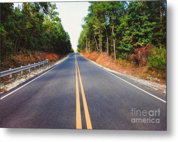 An Empty Road Metal Print