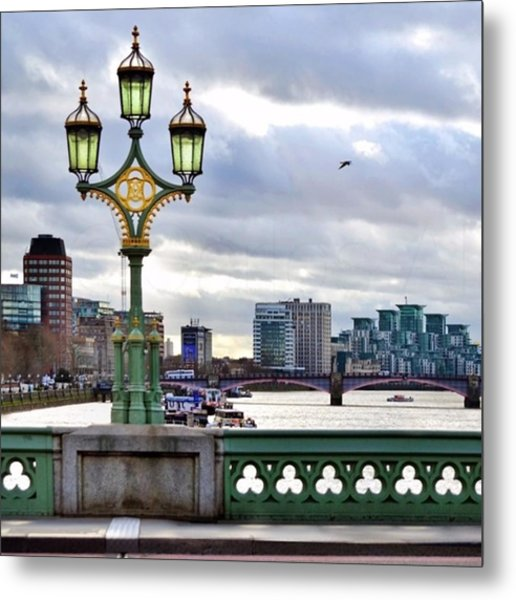 An Empty Westminster Bridge • #london Metal Print