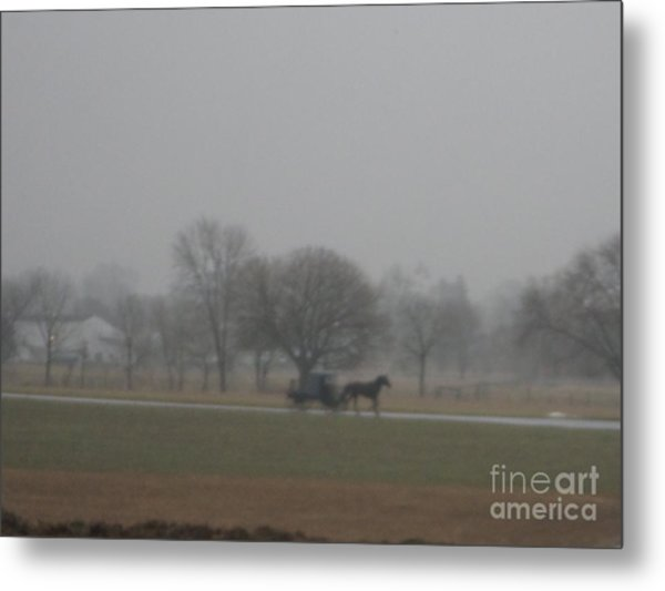 An Evening Buggy Ride Metal Print