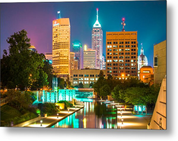 An Evening In Indianapolis Metal Print