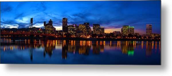 An Evening In Portland Metal Print