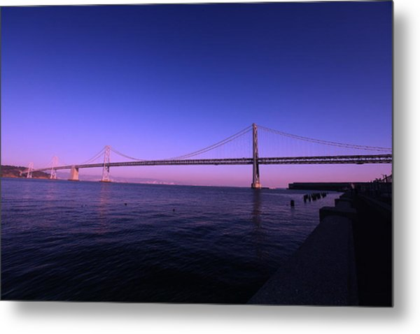 An Evening In San Francisco  Metal Print
