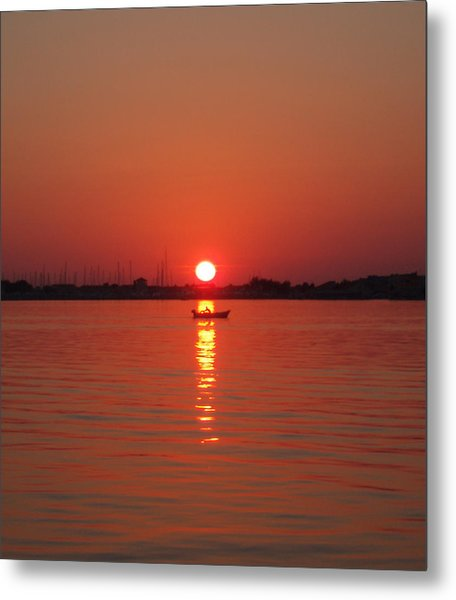 An Evening Row Metal Print
