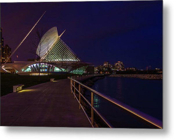An Evening Stroll At The Calatrava Metal Print