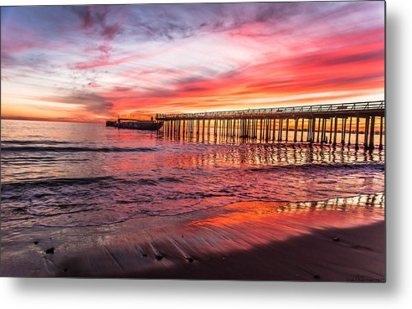 Seacliff Sunset Metal Print