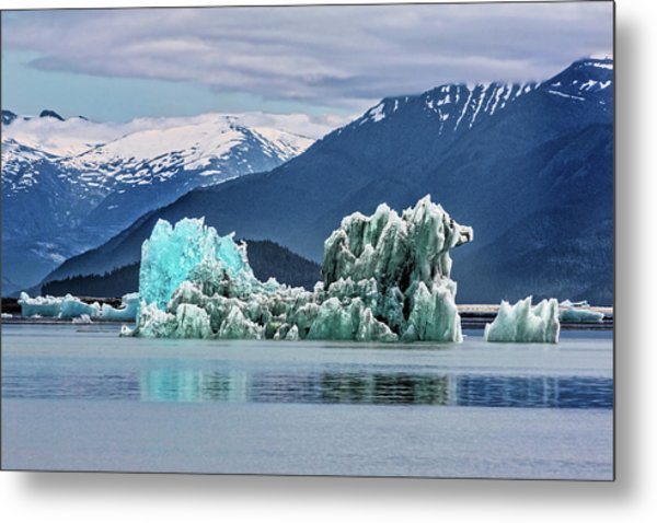 An Iceberg In The Inside Passage Of Alaska Metal Print