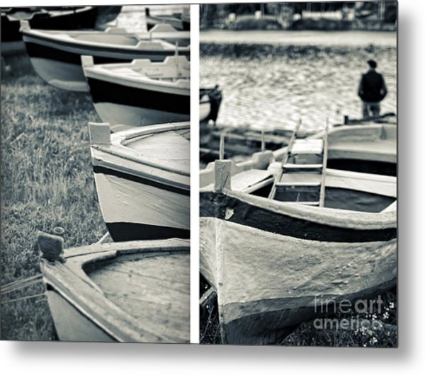 An Old Man's Boats Metal Print