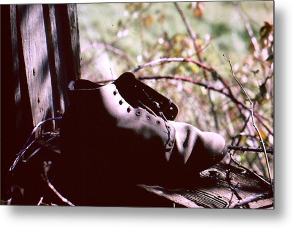An Old Shoe Metal Print by Richard Mansfield