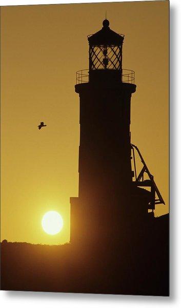 Anacapa Lighthouse And Sunrise Metal Print