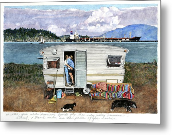 Anacortes Fuel Metal Print by Perry Woodfin